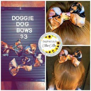 Dog printed bows
